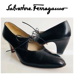 Salvatore Ferragamo Black Mary Jane Size 8.5 M